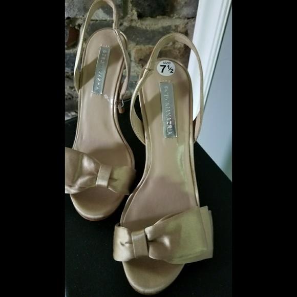 3b64b73b9b BCBGMaxAzria Shoes | Satin Slingbacks W Bow In Bcbg Lavi In Beige ...